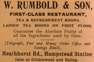W Rumbold advert