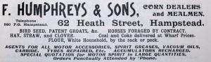 F Humphreys advert
