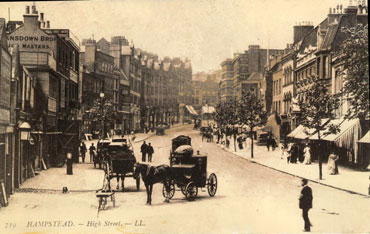 Hampstead High Street without clock tower