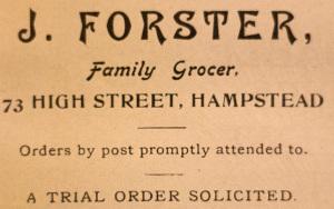 J Forster advert