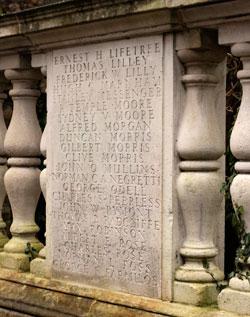 War Memorial in Church Row